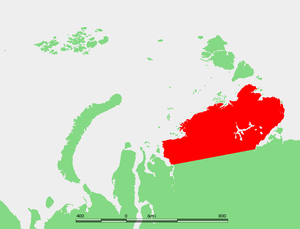 Taymyr Peninsula - Location of the Taymyr Peninsula.