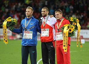 2014 European Athletics Championships – Men's 400 metres hurdles - The podium