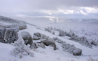 Ramsar sites of Poland - View from Szrenica towards the West in Karkonosze National Park
