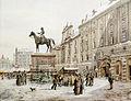 Karl Wenzel Zajicek A Christmas market in Am Hof Vienna 1908.jpg
