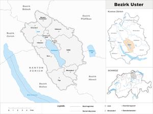 Uster District - Image: Karte Bezirk Uster 2007