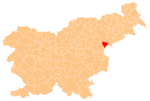 The location of the Municipality of Rogaška Slatina