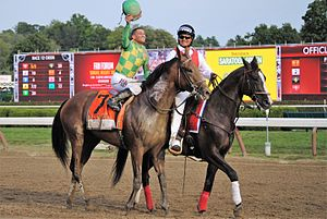 Keen Ice - Keen Ice and Castellano after the Travers win