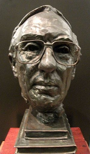 Donald Dewar - Bust of Donald Dewar by Archie Forrest in the Kelvingrove Art Gallery and Museum, Glasgow