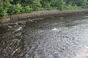 Kenduskeag Stream - Closeup of the Kenduskeag in Bangor, where it flows into the Penobscot River