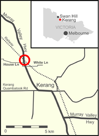 Map showing the location of the collision (circled).