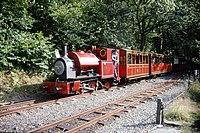 Kerr Stuart 0-4-2ST 4047 of 1921, running as 'Peter Sam' Talyllyn Railway, Abergynolwyn 9.8.1994 Scans979 (10759291155).jpg