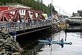 Ketchikan anglers and kayakers at bridge - DPLA - 185507419be95cea636e624008cbcfcd.JPG