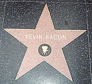 L'étoile de Kevin Bacon sur le Hollywood Walk of Fame