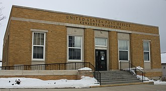 National Register of Historic Places listings in Kewaunee County, Wisconsin - Image: Kewaunee Wisconsin Post Office NRHP