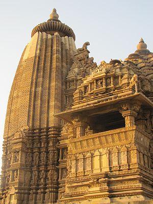 Vamana Temple, Khajuraho - Image: Khajuraho India, Vamana Temple 02; Photographed 10 March 2012