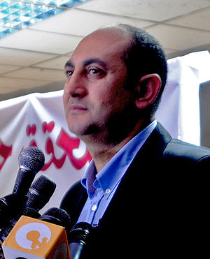 Egyptian presidential election, 2012 - Image: Khaled Ali announces his candidacy (cropped)