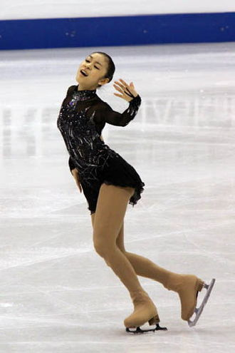 Yuna Kim - Kim performing her short program to Danse Macabre at the 2009 World Championships.