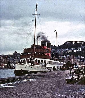 TS King George V - At railway quay Oban 1970.