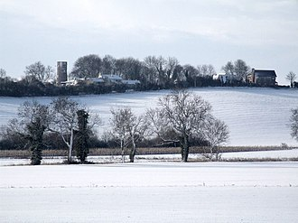 Bolingbroke, Lincolnshire - Tower of former windmill on Kirby Hill