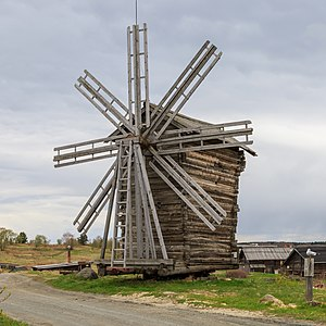 Kizhi Island - Windmill built in 1930, Yamka