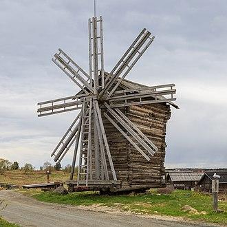 Kizhi Island - Windmill built in 1930, Yamka