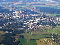 Aerial view of Klimovsk