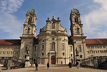 Canton Svitto-Storia-Kloster Einsiedeln Frontansicht