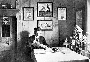 Christian Klucker - Christian Klucker at his house in Fextal.