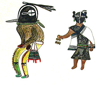 Kokopelli - Kokopelli and Kokopelli Mana as depicted by the Hopi