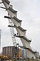 Kolkata Gate Stairs Under Construction - Rabindra Tirtha Crossing - Rajarhat - Kolkata 2017-06-21 2827.JPG