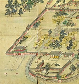 Donggwoldo - Image: Korean art Donggwoldo detail Changdeokgung Donhwamun and its vicinity 01