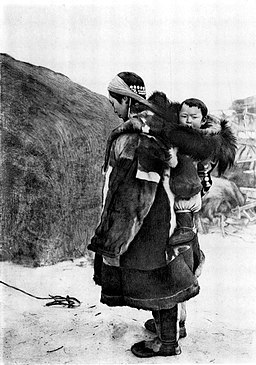 Koryak woman carrying child. Photo used in An Interview with Julia Phillips, Part 3. Julia Phillips is a national book award finalist for her book Disappearing Earth.