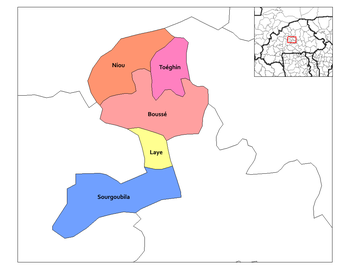 Sourgoubila Department location in the province
