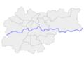Kraków dzielnice blank map.png