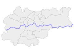 Mapa lokalizacyjna Krakowa