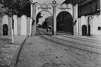 Kraków Ghetto - Arched entrance to Kraków Ghetto, 1941