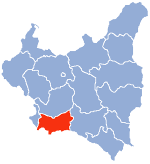 Kraków Voivodeship (1919–1939) - Location of the Kraków Voivodeship (red) within the Second Polish Republic, 1938.