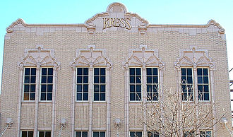 S. H. Kress & Co. - Kress store building in Lubbock, Texas showing the characteristic design