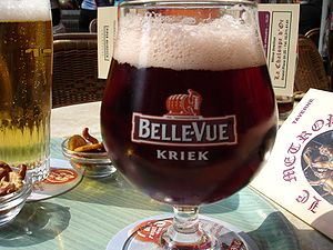 Kriek lambic - A glass of Belgian kriek beer