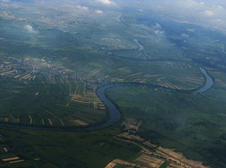 Kupa - In its lower course, the Kupa meanders through the plains of the Pannonian Basin.