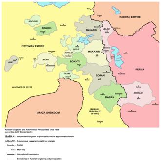 Bohtan - Bohtan Principality circa 1835.