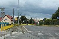 Kwiatowa Street in Szczecin, tram track, 2015.jpg