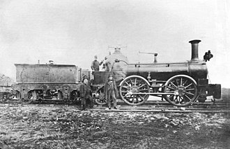 Bury, Curtis and Kennedy - L&YR locomotive Victoria c.1878-80, designed by Bury and built by the Clarence Foundry in 1847, converted later to 0-4-2