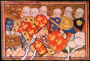 Third Crusade - Saladin's troops, French manuscript, 1337