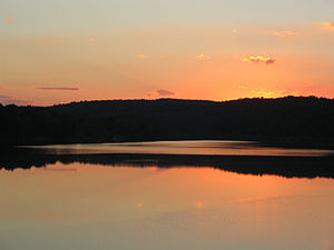 Centre Township, Perry County, Pennsylvania - Sunset at Little Buffalo State Park