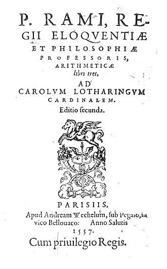 Petrus Ramus - Arithmeticae libri tres, 1557