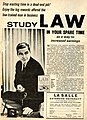La Salle Extension University Law Studies advertising - Official Wrestling - August 1964 backcover.jpg