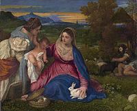 La Vierge au Lapin à la Loupe.jpg