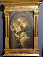 The Virgin and the Child in a niche