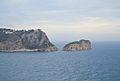 La torre d'Ambolo i l'illa del Descobridor, Xàbia.JPG