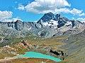 Lac blanc et pointe de l echelle(3422m).JPG