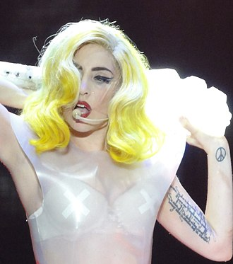 Joanne (Lady Gaga song) - Image: Lady Gaga The Monster Ball Tour Burswood Dome Perth (4482799143) closeup