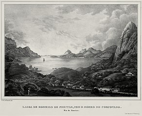 Lagoa de Rodrigo de Freitas, com Morro do Corcovado. Rio de Janeiro