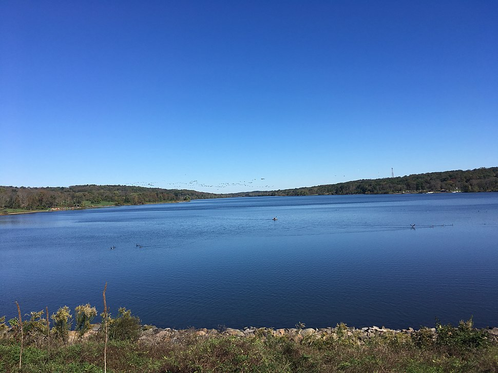 Lake Galena in Peace Valley Park from dam